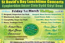 St David's Day lunchtime concerts