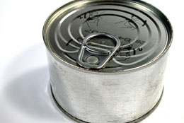 tinned food can