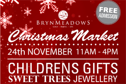 Bryn Meadows Christmas Fayre flyer