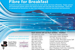 fibre for breakfast super fast broadband events in Caerphilly